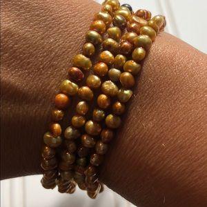 Beautiful precious stone amber bracelet set